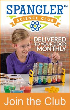 Spangler Science Club featuring Science Experiments delivered to your door monthly!  Join the Club!