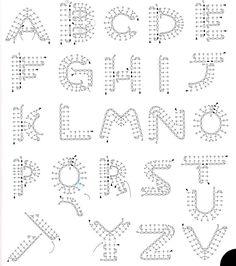 Best 11 Crochet Pattern For Every Letter In The Alp - Crochet Quilling Ideas Crochet - Diy Crafts Appliques Au Crochet, Crochet Motifs, Crochet Diagram, Crochet Chart, Crochet Stitches, Crochet Patterns, Crochet Symbols, Applique Patterns, Crochet Basics