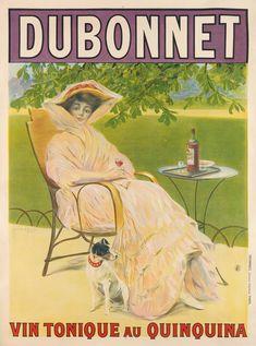 Vin tonique au Quinquina by Dubonnet. Vintage poster of wine