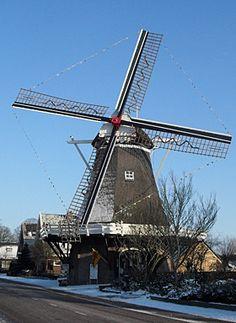 #Windmill - Flour mill, De Bente, Dalen, the #Netherlands. - http://dennisharper.lnf.com/