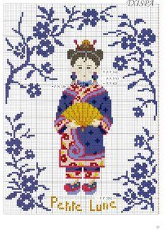 Chinese princess cross stitch pattern and color chart part 2 Gallery.ru / Фото #7 - 422 - Yra3raza