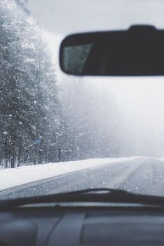 snow, ice, road, travel, road trip, car