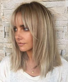 45 Best Blonde Hair With Fringe Images In 2019 Long Hair