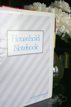 Redfly Creations: Household Notebook and Free Printables! More applicable version of a household notebook for my life. Household Notebook, Household Binder, Household Expenses, Household Tips, Organizing Paperwork, Household Organization, Financial Organization, Organising, Family Planner