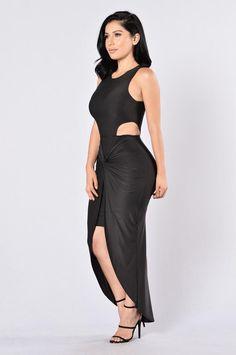 On The Sly Dress - Black