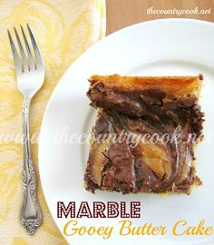 The Country Cook: Chocolate Marble Gooey Butter Cake