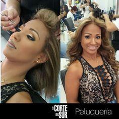 ¡Bella y versátil!  Este es un hermoso #Maquillaje realizado por nuestro estilista profesional Gabriel Garcia Cardenas acompañado de unas lindas #Ondas de agua para embellecer tu cabello.   Separa tu cita en nuestro PBX: 5522309.   Nosotros te asesoramos, ¡Tenemos tiempo para ti!