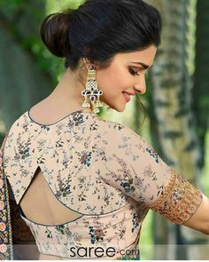 blouse designs 20 Latest Stylish Saree Blouse Back Neck Designs 2020 - Buy lehenga choli online Sari Design, Choli Blouse Design, Cotton Saree Blouse Designs, Choli Back Design, Blouse Back Neck Designs, Simple Blouse Designs, Stylish Blouse Design, Choli Designs, Blouse Lehenga