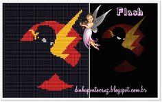 Salve o gráfico para imprimir e a tabela de cores aqui http://dinhapontocruz.blogspot.com.br/2014/08/super-herois-ponto-cruz-parte-2.html