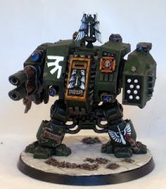 Step-by-step Dark Angels Dreadnought