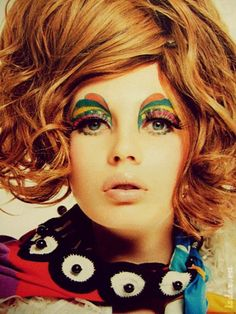 Sixties #makeup #colorful #hair