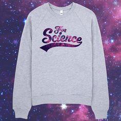 For Science - Unisex Heather Grey Raglan Sweater