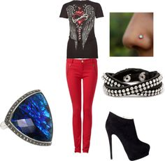 """""""Rocker Outfit"""" by purplebee007 on Polyvore"""