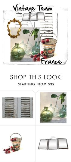 """Some Stuff from French Vintage Team"" by le-shop-de-moz on Polyvore featuring interior, interiors, interior design, maison, home decor, interior decorating, vintage, mirror, bottle et barber"