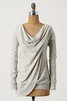 Swept Swag Sweatshirt from Anthropologie...unfortunately no longer available but it might be a diy project