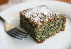Poppy Seed Cake - the most poppy seeds I've ever seen in a cake recipe - gorgeous!