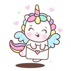Unicorn Painting, Unicorn Drawing, Unicorn Art, Doodles Kawaii, Cute Kawaii Drawings, Unicorn Wallpaper Cute, Unicornios Wallpaper, Valentines Day Drawing, Unicorn Illustration