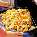 Pepperoni rigatoni bake - a kid-pleaser! Quick Family Meals, Easy Meals, Freezer Cooking, Cooking Recipes, What's Cooking, Baked Pasta Recipes, Cheese Recipes, Rice Recipes