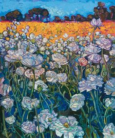 Snow Blooms - Erin Hanson Prints - Buy Contemporary Impressionism Fine Art Prints Artist Direct from The Erin Hanson Gallery Art And Illustration, Vintage Illustrations, Des Fleurs Pour Algernon, Painting Inspiration, Art Inspo, Journal Inspiration, Arte Van Gogh, Erin Hanson, Kunst Inspo