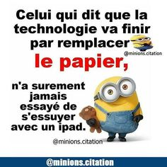 Donc tu as éssayer ? Minion Jokes, Funny Minion, Lol, French Quotes, True Stories, Funny Memes, Messages, Motivation, Moment