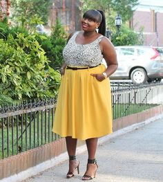misschocolatesupreme:  New Posthttp://stylishcurves.com/style-journey-mellow-yellow-2/