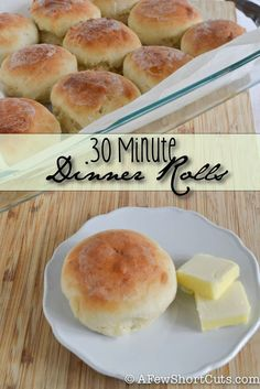 30 Minute Dinner Rolls, #Dinner, #Easy, #Quick, #Rolls