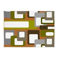 Mid-Century Modern 5x7'Area Rug on CafePress.com