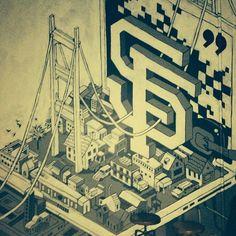 """@Jimmy Boitnott Jr.'s photo: """"Cool #SF Wall Mural  #art"""""""