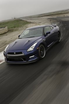 Nissan GT-R supercar front drivers side view