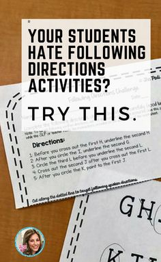 following directions worksheet middle school google search teaching aids pinterest. Black Bedroom Furniture Sets. Home Design Ideas