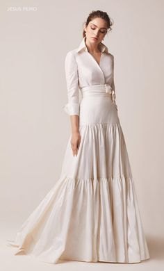 Modest Wedding Dresses, Elegant Dresses, Pretty Dresses, Bridal Dresses, Vintage Dresses, Beautiful Dresses, 50s Dresses, Modelos Fashion, Mermaid Dresses