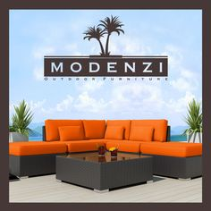 MODENZI DELUXE 6L ALL Weather Modern Outdoor PE Wicker Sofa Patio Furniture Set