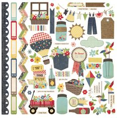 Simple Stories - Summer Fresh Collection - 12 x 12 Cardstock Stickers - Fundamentals at Scrapbook.com $2.99