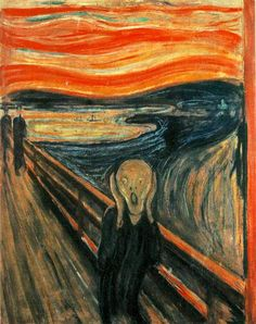 My favorite!  The Scream (1893) Painting by Edvard Munch: Art Analysis  I must take a trip to Oslo to visit it!