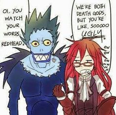 Um excuse me, Ryuk is extremely sexy. Shut your mouth, Grell