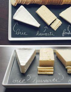 Blackboard cheese tray