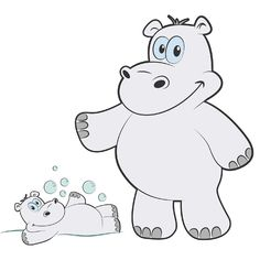 Hippo Character - digital illustration with Adobe Illustrator Material Design, Digital Illustration, Adobe Illustrator, Web Design, My Arts, Snoopy, Branding, Creative, Fictional Characters