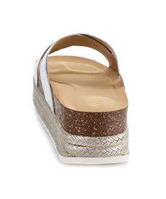 220b2384ced14b Room Of Fashion ROF Women s Wide Fit Criss Cross Espadrille Slip On Slide Platform  Flatform Sandal Mules   Learn more by visiting the image link.