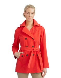 Double Breasted Trench Coat | Lord and Taylor  I need some good trench coats!