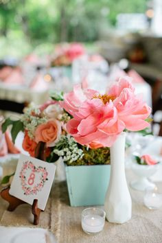Pink and Mint Wedding by Kristyn Hogan and Historic Cedarwood - Southern Weddings Magazine