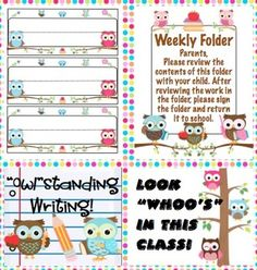 Owl Theme Classroom Back to School Mega Pack- Make this school year a hoot with this mega pack! It is loaded with owl theme classroom decorations, open house activities, first week activities, parent communication, and more! Owl Theme Classroom, 2nd Grade Classroom, School Classroom, Classroom Ideas, Open House Activities, Preschool Activities, Owl Themed Rooms, Kindergarten Classroom Management, Polka Dot Theme