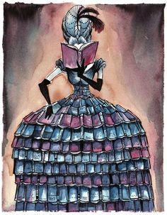 Madame Librarian Art Print by Levi Hastings I Love Books, Good Books, Books To Read, My Books, Reading Art, Woman Reading, Reading Books, Buch Design, World Of Books