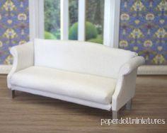 Precioso sofá en miniatura, Tutorial paso a paso
