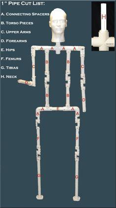 6FT PVC Body Frame Plans (Twin Spine Design)