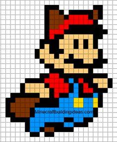 Minecraft Pixel Art Templates Mario