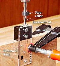 Drill dead-on dowel joints