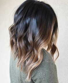 20 Best Face-Framing Highlights for Every Face Shape Long Black and Bronde Balayage Lob Balayage Lob, Balayage Brunette, Bronde Lob, Blonde Brunette, Ombre Hair Color, Brown Hair Colors, Brown Hair With Highlights, Caramel Highlights, Hairstyle Ideas