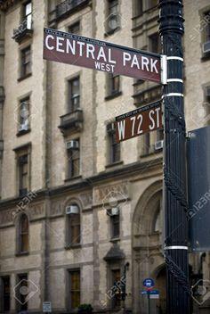 A Street Sign Near The Dakota Building On Central Park West