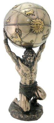 Greek God Atlas Holds Heavens Mythology Statue