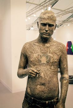 Rick Genest, aka Zombie Boy, has become a muse not only to famous fashion director, Nicola Formichetti, but now to world renown British sculptor, Marc Quinn.